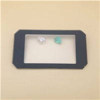 切角超白布纹钢化玻璃 30W灯具钢化玻璃