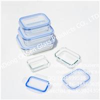 高硼硅耐热玻璃保鲜盒 韩式密封盖
