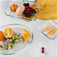 玻璃耐高温 透明烤盘 高硼硅烤盘