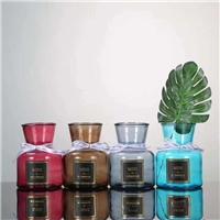 玻璃花瓶彩色敞口水培植物花瓶干花鮮花客廳插花擺件