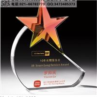 10长期服务奖奖杯 会议水晶奖杯 五角星奖杯样式