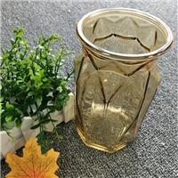 玻璃花瓶透明竖棱大号餐桌插花水培绿萝干花客厅摆件