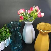 六角玫瑰欧式花瓶卧室摆件客厅插花装饰酒店 台面花瓶