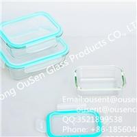 欧森耐热玻璃保鲜盒 高硼硅耐热保鲜盒