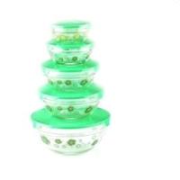 广州采购-贴花的五件套玻璃碗