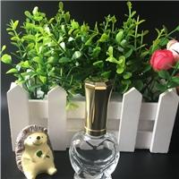 厂家直销心形指甲油空瓶化妆品分装瓶小瓶子玻璃瓶