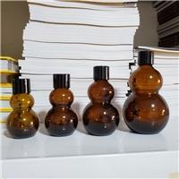 棕色玻璃瓶葫芦精油瓶分装瓶壁光药水分装瓶