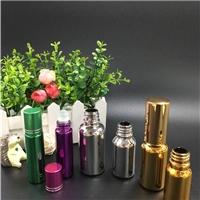 精油瓶10ml电镀彩色走珠瓶钢珠瓶空瓶玻璃香水瓶现货
