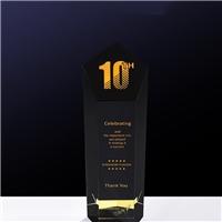 黑水晶奖杯,周年纪念水晶奖杯定做,厂家直销