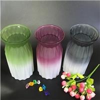 玻璃花瓶炫彩渐变折纸菱形花瓶装饰彩色玻璃花瓶