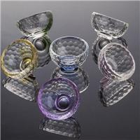彩色水晶杯茶杯,品茗杯水晶玻璃功夫茶具