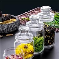 家用玻璃茶叶罐密封罐花茶储物罐小号收藏罐