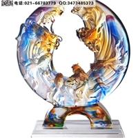 常州五周年琉璃獎杯 員工高端獎牌制作 琉璃工藝品價格