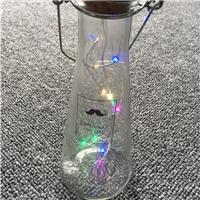 LED灯串玻璃瓶礼物装饰手提创意许愿发光幸运星夜空