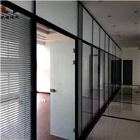 济宁中空百叶帘办公室玻璃隔断墙