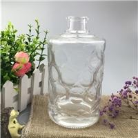 白酒瓶雕花玻璃洋酒瓶 一斤空酒瓶子玻璃瓶定制