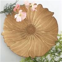 莲花状酒店宴会家庭用简洁玻璃盘子餐盘水果盘