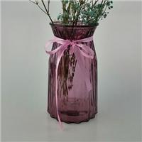 欧式渐变花瓶玻璃花瓶透明彩色水培植物富贵竹干花摆件