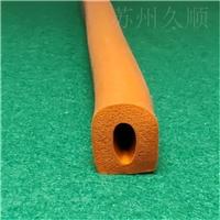 硅膠防水耐高溫D型硅膠海綿膠條