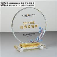 經銷商水晶獎牌 電器公司年度獎杯 水晶禮品