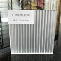 广州条纹玻璃 双面瓦楞条纹玻璃 移门条纹玻璃