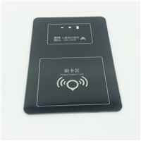 3.2mm刷卡区丝印玻璃 物理钢化纸盒包装丝印玻璃厂