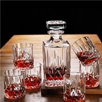 水晶玻璃带塞葡萄酒瓶 威士忌酒樽 红酒醒酒器