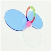 天藍色鍍膜玻璃切割 2MM圓形磨邊鍍膜玻璃