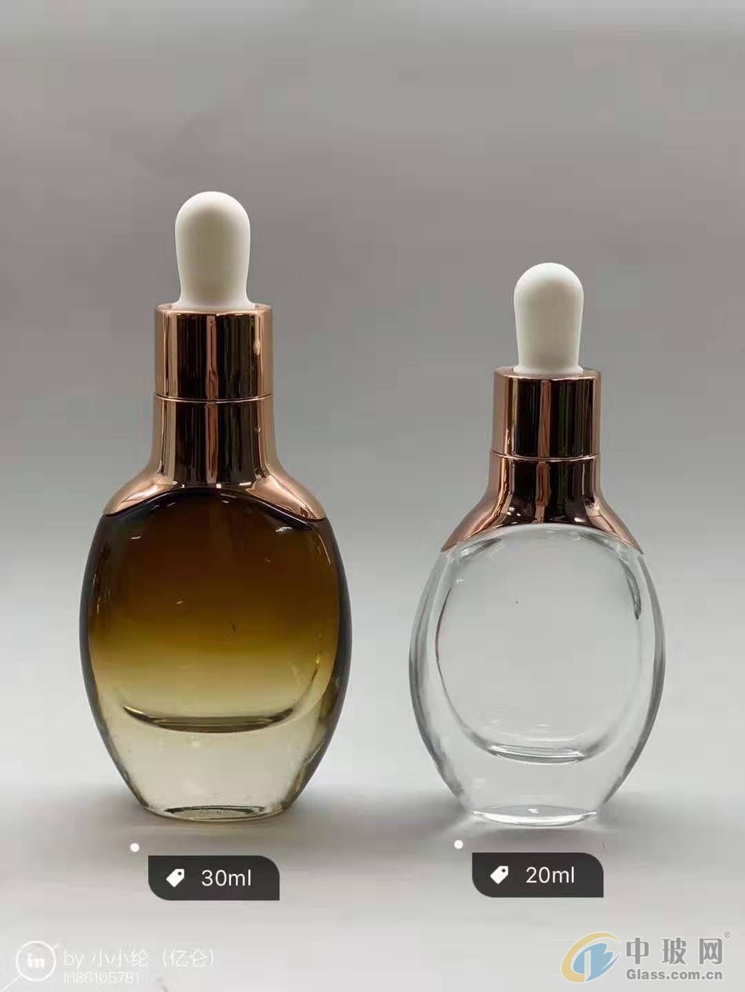 生产加工玻璃肩套瓶 玻璃瓶厂 肩套瓶生产厂家