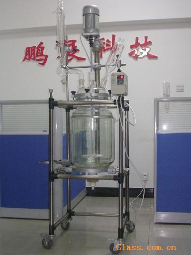 供应生产型-50L双层玻璃反应釜