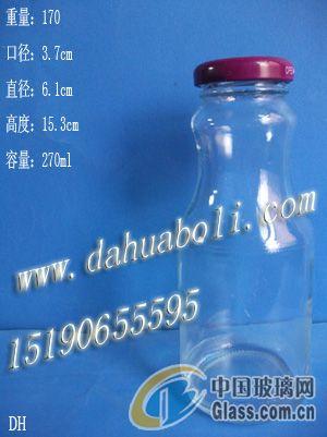 供应270ml饮料瓶 牛奶瓶 订做玻璃瓶