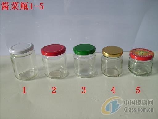 生产各种玻璃瓶,酱菜瓶,瓶盖等