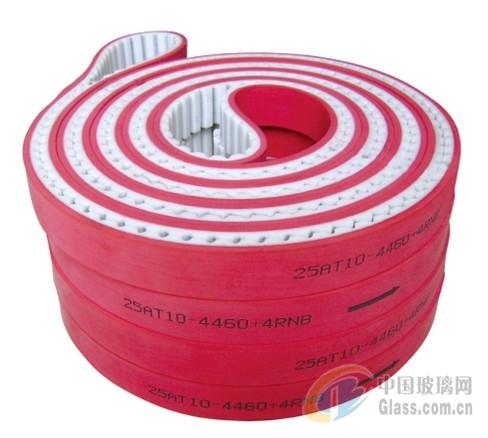 玻璃磨边机配件加红胶同步带
