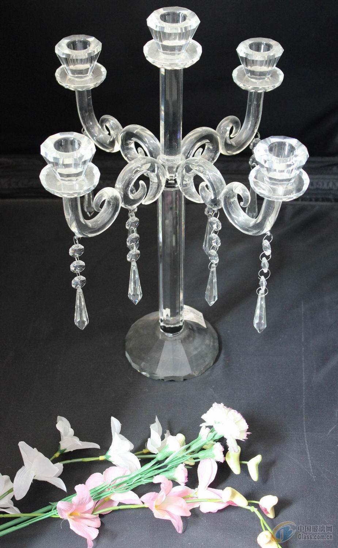 供应水晶玻璃烛台/质量优/价格好