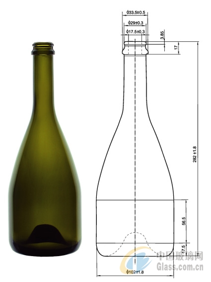 香槟酒瓶 750ml