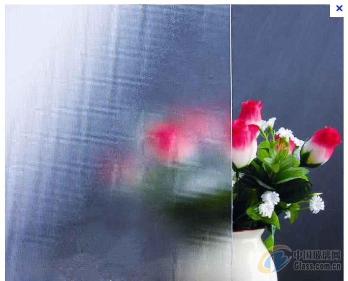 4mm 透明布纹压花玻璃