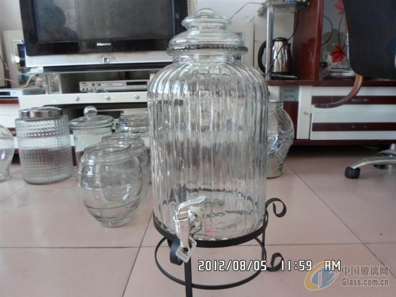 高等玻璃罐子搭配成套盖子