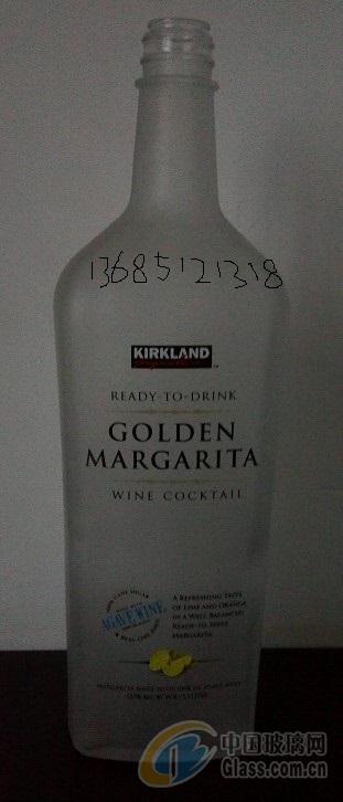 1500ml磨砂烤花出口酒瓶