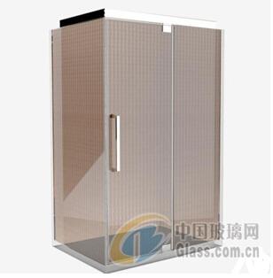 厂家直销 优质淋浴房夹丝玻璃 简约立体夹铁丝玻璃