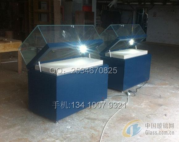45度拼角玻璃掀起式文物展柜