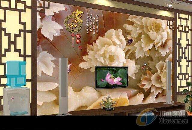 厂家直销KTV玉石屏风背景墙