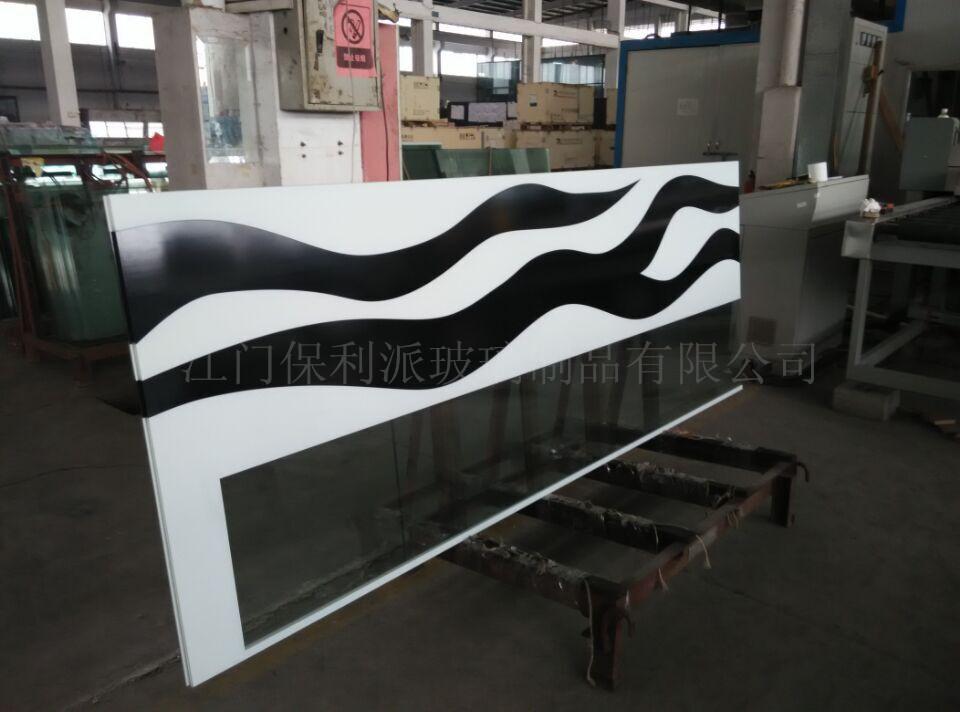 丝印夹胶钢化玻璃