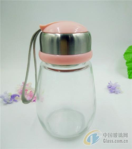透明玻璃水杯企鹅杯玻璃瓶冷水杯