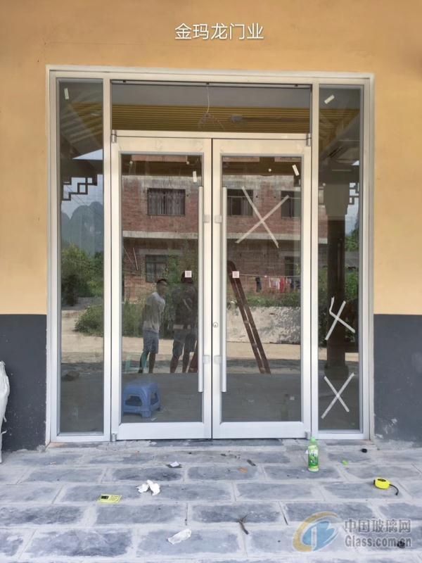 百色商务地弹门 玻璃地弹门制作