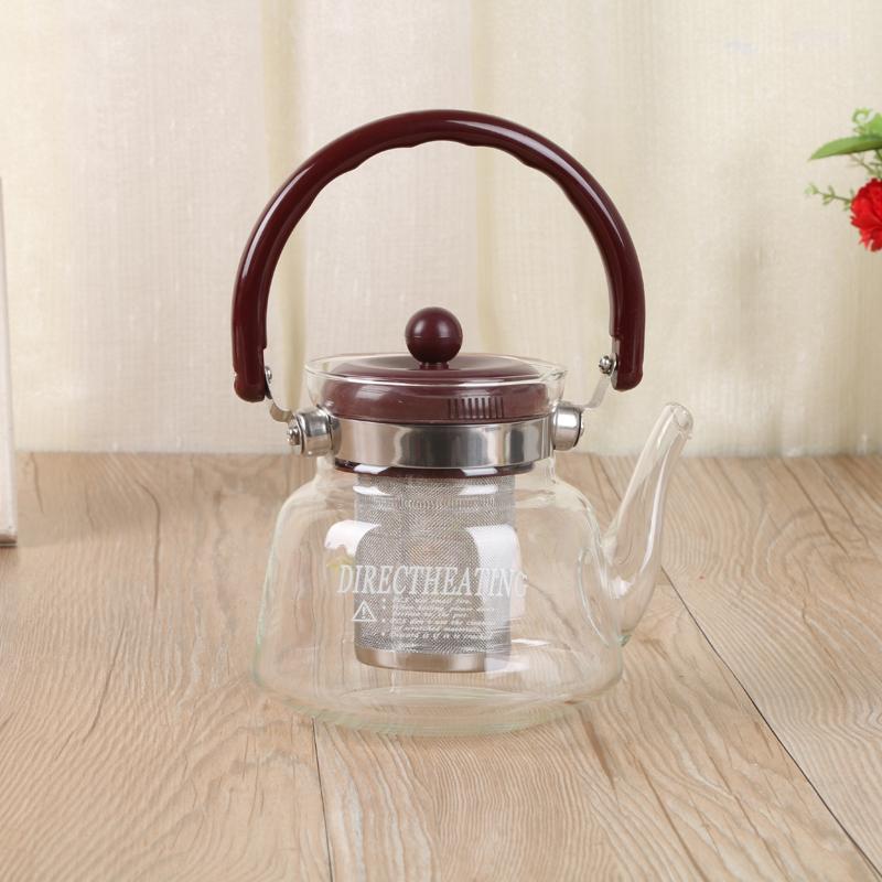 耐热玻璃杯不锈钢过滤直火壶明火加热玻璃壶