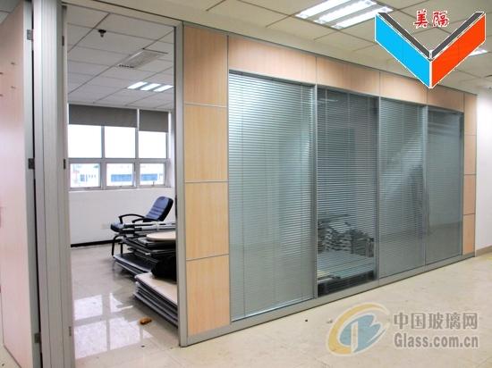 深圳宝安中空百叶玻璃隔断隔墙厂家