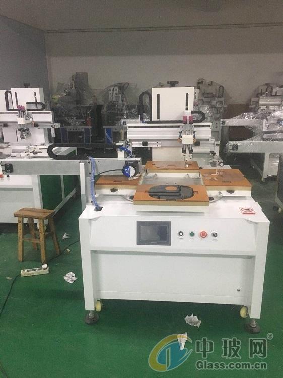 除尘除静电滚筒智能触控玻璃亚克力镜片丝印机