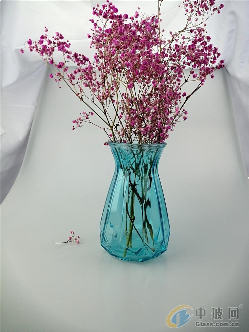 透彩色现代折纸葫芦玻璃花瓶干花水培花瓶