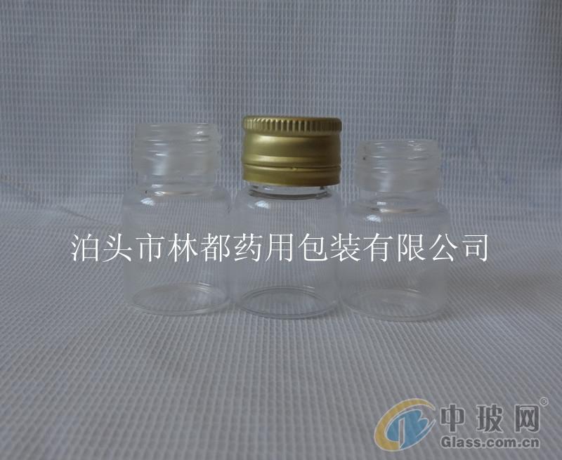 矮胖型透明玻璃瓶 药用玻璃瓶 林都厂家品种多样