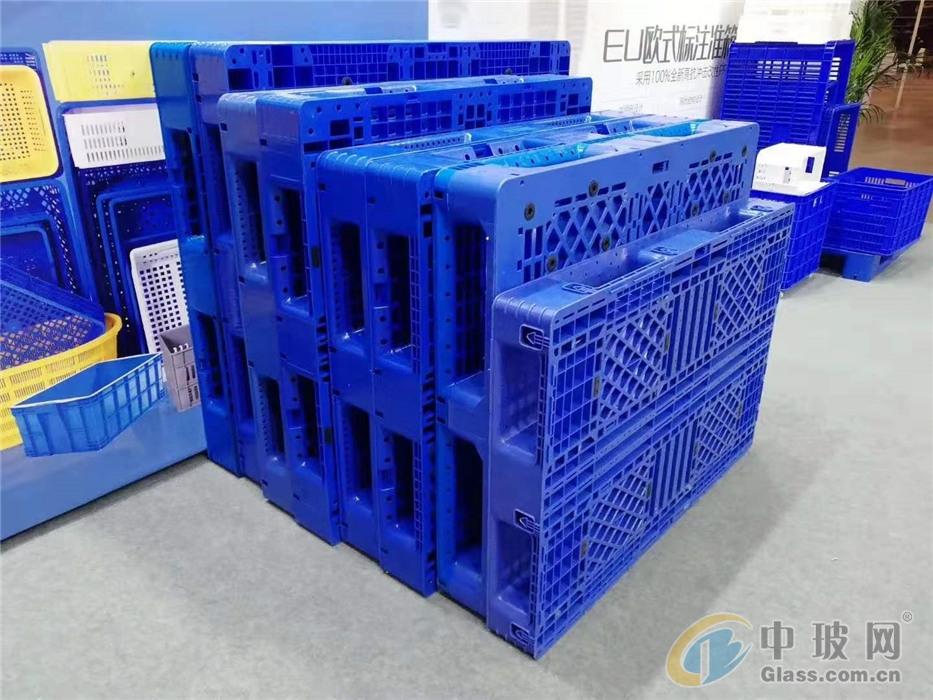 酒瓶包装B型1210田字网格塑胶托盘重庆托盘厂家